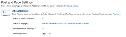 Facebook Social Publisher